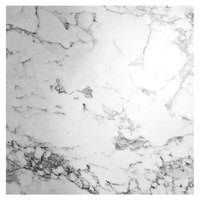 Grosfillex US36D745 Exterior Vanguard 36 inch Square White Marble Outdoor Table Top
