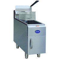 Globe GF15G 15 lb. Natural Gas Countertop Fryer - 26,500 BTU