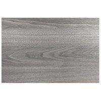 Grosfillex US48H722 48 inch x 32 inch Rectangular Walnut Outdoor / Indoor HPL Compact Table Top