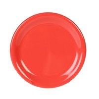 Thunder Group CR005RD 5 1/2 inch Orange Wide Rim Melamine Plate - 12/Pack