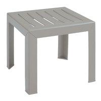 Grosfillex US445766 Westport 16 inch x 16 inch Barn Gray Low Table