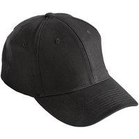 Mercer Culinary Black Customizable 6-Panel Chef / Baseball Cap