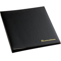 H. Risch RESPACK Black Faux Leather Reservation Book with 185 Sheets