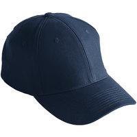 Mercer Culinary Navy Blue Customizable 6-Panel Chef / Baseball Cap