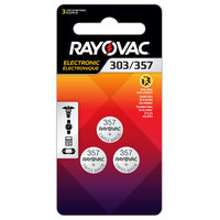 Rayovac 303/357-3ZMG 303/357 1.5V Silver Oxide Coin Button Batteries   - 3/Pack