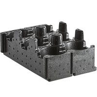 Cambro EPPBEVH2110 Cam GoBox 3-Compartment Black Insulated Cup Holder - 2/Pack