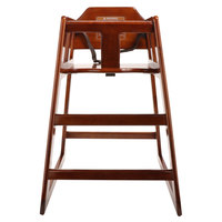 GET HC-100-MOD-W-KD-1 Stackable Hardwood High Chair with Walnut Finish - Unassembled