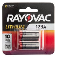 Rayovac RL123A-2G 123A Lithium Photo Batteries - 2/Pack