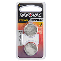 Rayovac KECR2032-2G 3V CR2032 Lithium Coin Button Batteries - 2/Pack