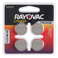 Rayovac KECR2032-4G 3V CR2032 Lithium Coin Button Batteries - 4/Pack