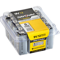 Rayovac AL9V-12PPJ Ultra Pro Industrial 9V Alkaline Batteries - 12/Pack