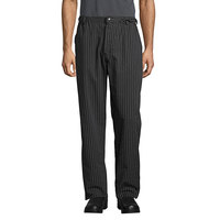 Uncommon Threads 4020 Unisex Pinstripe Customizable Executive Chef Pants - XL