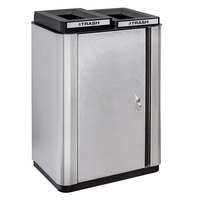 Ex-Cell Kaiser ECH-SL 2TR SS/BL Echelon Collection Stainless Steel 34 Gallon Slim Indoor Two Stream Receptacle