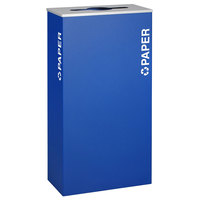 Ex-Cell Kaiser RC-KD17-P RYX Kaleidoscope XL Series Royal Blue Texture 17 Gallon Paper Receptacle