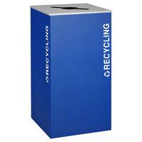 Ex-Cell Kaiser RC-KD36-R RYX Kaleidoscope XL Series Royal Blue Texture 36 Gallon Recycling Receptacle