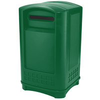Rubbermaid FG396900DGRN Plaza Paper Recycling Container - Green