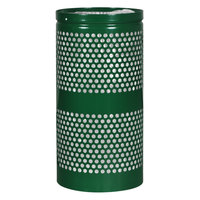 Ex-Cell Kaiser WR-34R HGR Landscape Series 34 Gallon Hunter Green Gloss Waste Receptacle
