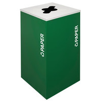 Ex-Cell Kaiser RC-KDSQ-P EGX Kaleidoscope Collection Emerald Texture 24 Gallon Paper Receptacle