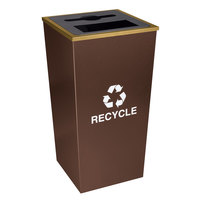 Ex-Cell Kaiser RC-MTR-34 COMBO HCPR Metro Companion XL 34 Gallon Hammered Copper Two Stream Receptacle