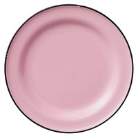 Luzerne L2101003119 Tin Tin 6 3/4 inch Pink Porcelain Plate by Oneida - 24/Case