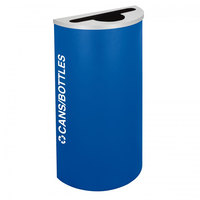 Ex-Cell Kaiser RC-KDHR-C RYX Kaleidoscope Collection Royal Blue Texture 8 Gallon Half-Round Cans / Bottles Receptacle