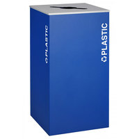 Ex-Cell Kaiser RC-KD36-PL RYX Kaleidoscope XL Series Royal Blue Texture 36 Gallon Plastics Receptacle