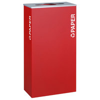 Ex-Cell Kaiser RC-KD17-P RBX Kaleidoscope XL Series Ruby Texture 17 Gallon Paper Receptacle