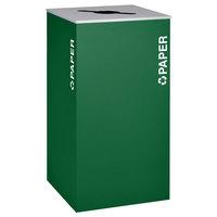 Ex-Cell Kaiser RC-KD36-P EGX Kaleidoscope XL Series Emerald Texture 36 Gallon Paper Receptacle