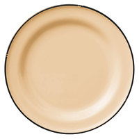 Luzerne L2103006152 Tin Tin 10 3/4 inch Yellow Porcelain Plate by Oneida - 12/Case
