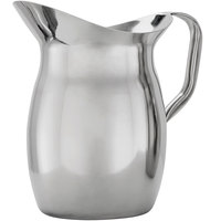American Metalcraft BPG101 100 oz. Stainless Steel Bell Pitcher with Ice Guard