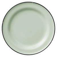 Luzerne L2104009119 Tin Tin 6 3/4 inch Green Porcelain Plate by Oneida - 24/Case
