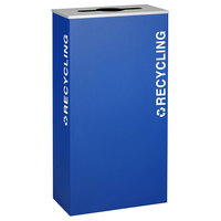 Ex-Cell Kaiser RC-KD17-R RYX Kaleidoscope XL Series Royal Blue Texture 17 Gallon Recycling Receptacle