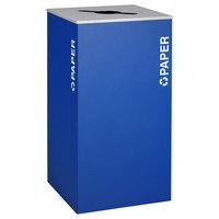 Ex-Cell Kaiser RC-KD36-P RYX Kaleidoscope XL Series Royal Blue Texture 36 Gallon Paper Receptacle