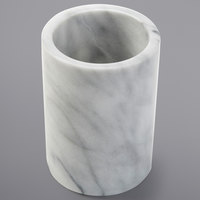 American Metalcraft MWC57WHITE 5 inch White Marble Wine Cooler