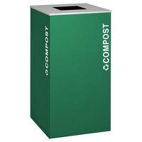 Ex-Cell Kaiser RC-KD36-CMPST EGX Kaleidoscope XL Series Emerald Texture 36 Gallon Compost Receptacle