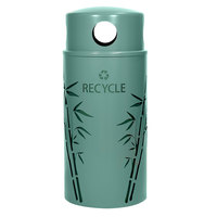 Ex-Cell Kaiser NS33-BB R MAL Nature Series 33 Gallon Steel Malachite Bamboo Recycle Receptacle