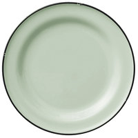 Luzerne L2104009152 Tin Tin 10 3/4 inch Green Porcelain Plate by Oneida - 12/Case