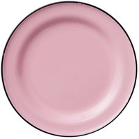 Luzerne L2101003152 Tin Tin 10 3/4 inch Pink Porcelain Plate by Oneida - 12/Case