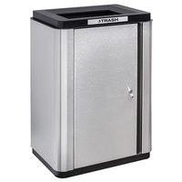 Ex-Cell Kaiser ECH-SL TR SS/BL Echelon Collection Stainless Steel 34 Gallon Slim Indoor Receptacle