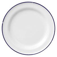 Luzerne L2105008152 Tin Tin 10 3/4 inch White / Blue Porcelain Plate by Oneida - 12/Case