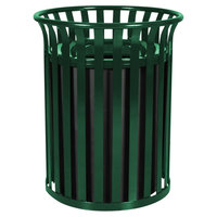 Ex-Cell Kaiser SC-2633 HGR Streetscape Hunter Green Gloss 37 Gallon Classic Outdoor Trash Receptacle