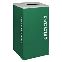 Ex-Cell Kaiser RC-KDSQ-R EGX Kaleidoscope Collection Emerald Texture 24 Gallon Recycling Receptacle