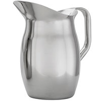 American Metalcraft BPG67 68 oz. Stainless Steel Bell Pitcher with Ice Guard
