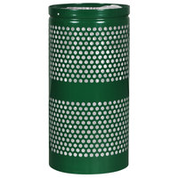 Ex-Cell Kaiser WR-22R HGR Landscape Series 20 Gallon Hunter Green Gloss Perforated Trash Receptacle