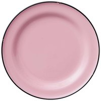 Luzerne L2101003133 Tin Tin 8 1/4 inch Pink Porcelain Plate by Oneida - 24/Case