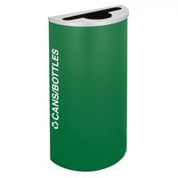 Ex-Cell Kaiser RC-KDHR-C EGX Kaleidoscope Collection Emerald Texture 8 Gallon Half-Round Cans / Bottles Receptacle