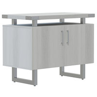 Safco MRSCT36WAH Mirella 36 inch x 20 inch x 29 1/2 inch White Ash Storage Cabinet with Wood Doors
