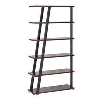Safco MRBS5STO Mirella 36 3/4 inch x 13 1/2 inch x 67 1/2 inch Southern Tobacco 5-Shelf Bookshelf