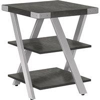 Safco MRETSGY Mirella 20 inch x 20 inch x 25 inch Stone Gray End Table