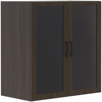 Safco MRGDCSTO Mirella 36 inch x 20 inch x 38 inch Southern Tobacco Display Cabinet with Glass Doors